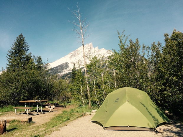 Camping, Tent, Outdoors, Gran Tetons