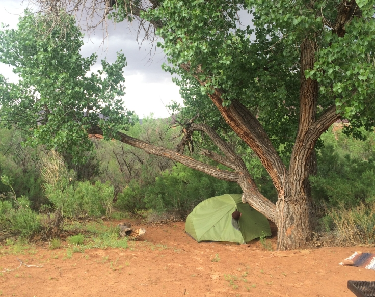 Camping, campsite, tent, outdoors, Indian Creek, Utah